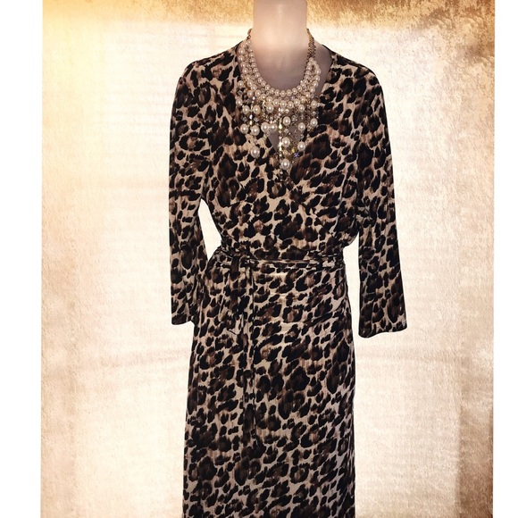 Tacera x Ross Dress For Less Dresses & Skirts - That's A Wrap Leopard Dress